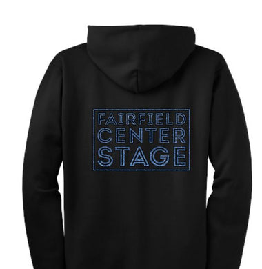 Fairfield Center Stage  Zip Up Hoodie - BLUE Glitter