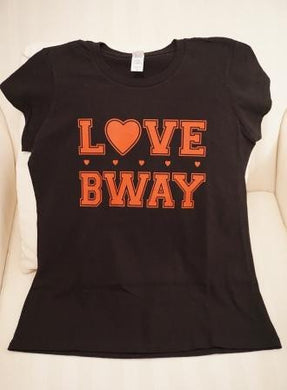 LOVE BWAY - Black Girls Fitted T