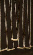 Horizontal Bar - Word/Name Necklaces w/ Crystals