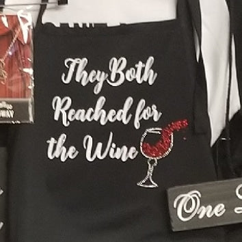 Chicago Apron - They Both Reached For The Wine