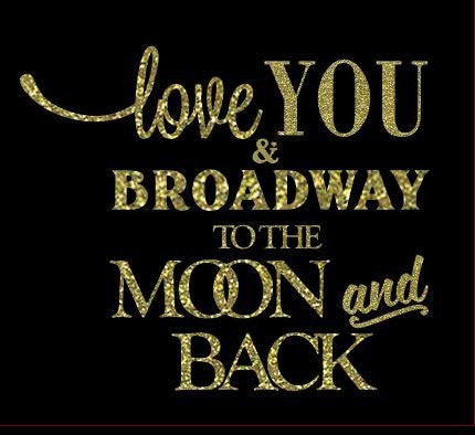 I Love You and Broadway to the Moon and Back - Pillow