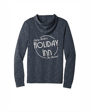 Holiday Inn Navy Full Zip Hoodie with NAME embroidered Left Chest