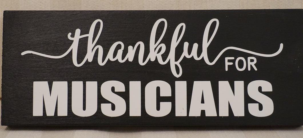 Thankful for Musicians