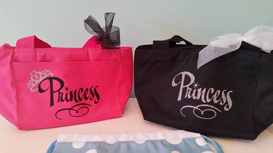 Princess Tote - Name & Crown in GLITTER print