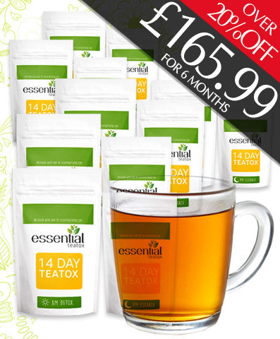 6 MONTHS ESSENTIAL TEATOX SUPPLY