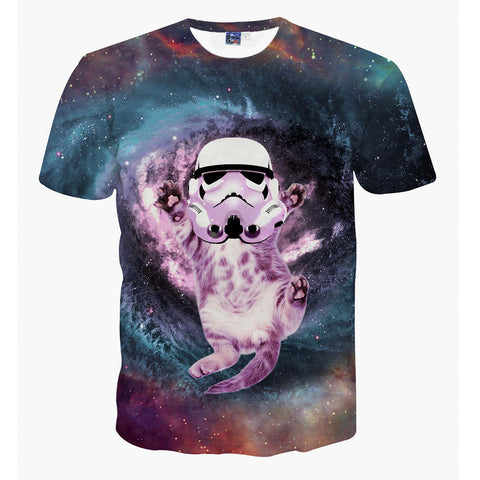 Storm Trooper Cat T-Shirt