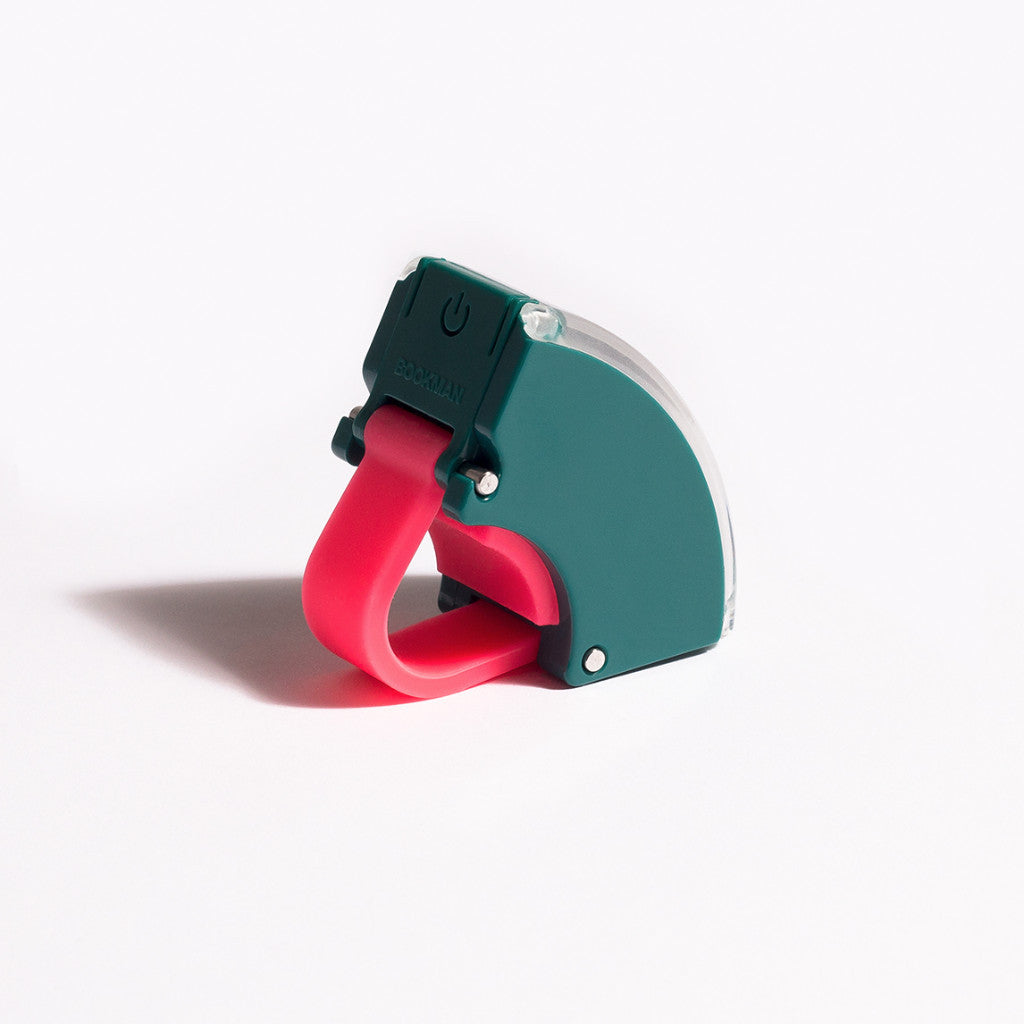 Bookman - Curve Front Light V.2 - Petrol Green/Neon Hot Pink - Les Facteurs