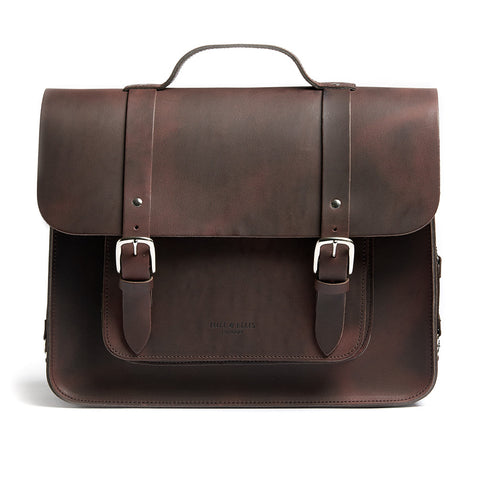 Hill & Ellis - BROWN SATCHEL BIKE BAG (FREDDIE) - Les Facteurs