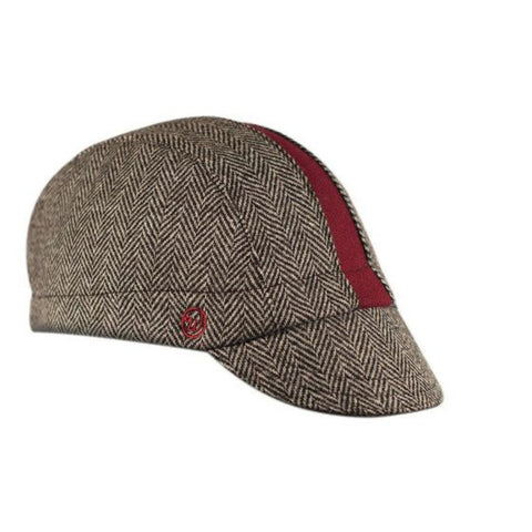 "Walz Caps - The ""Cardinal"" Herringbone Cap - Les Facteurs"