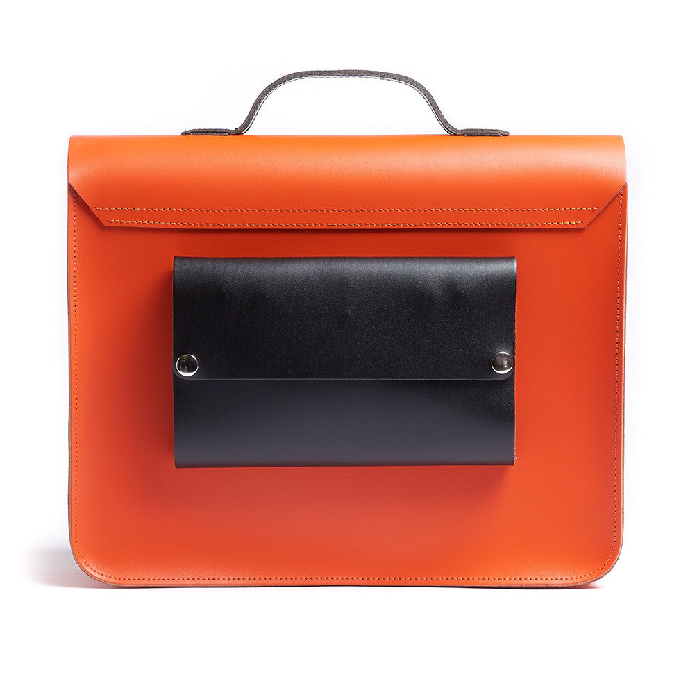 ORANGE SATCHEL BIKE BAG (JASPER)