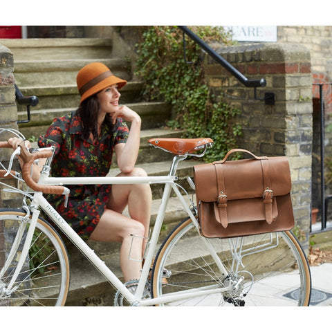 TAN SATCHEL BIKE BAG (MAC)