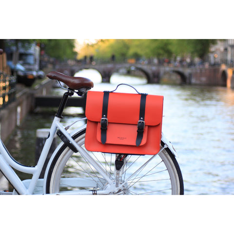 Hill & Ellis - ORANGE SATCHEL BIKE BAG (JASPER) - Les Facteurs