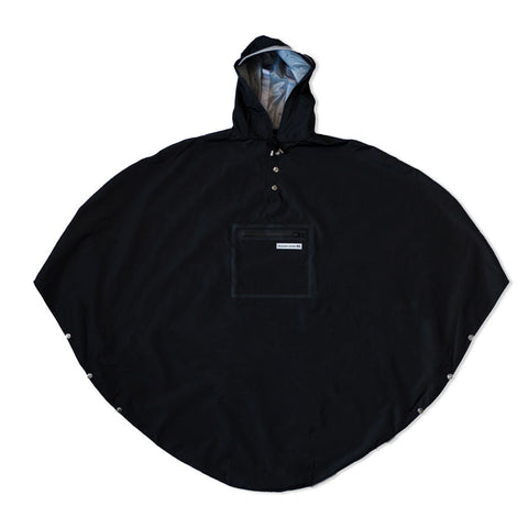 The people's poncho - The People's Poncho - Hardy black poncho - Les Facteurs