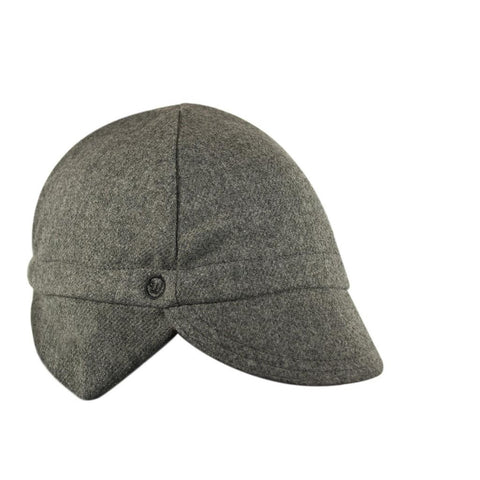 Walz Caps - Wool 4-Panel Grey Ear Flap Cycling Cap - Les Facteurs