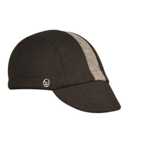 Walz Caps - Black/Grey Stripe Wool 3-Panel - Les Facteurs