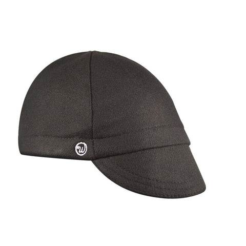 Walz Caps - Black Wool 4-Panel - Les Facteurs