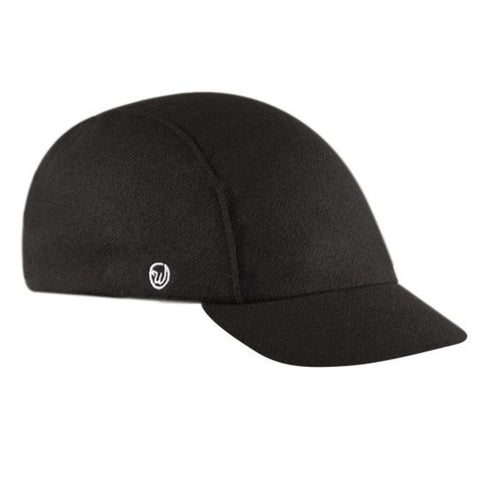 Walz Caps - Velo/City Cap - Black Wool - Les Facteurs