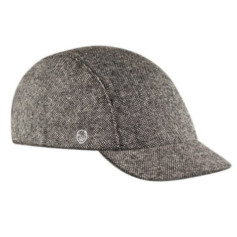 Walz Caps - Velo/City Cap - Black Tweed Wool - Les Facteurs