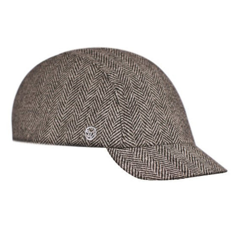 Walz Caps - Velo/City Cap - Black Herringbone - Les Facteurs