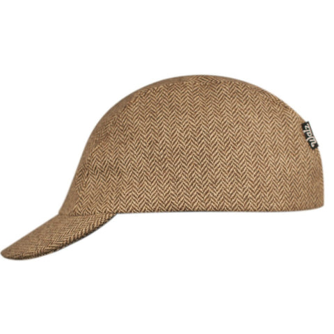 Walz Caps - Velo/City Cap - Brown Herringbone - Les Facteurs