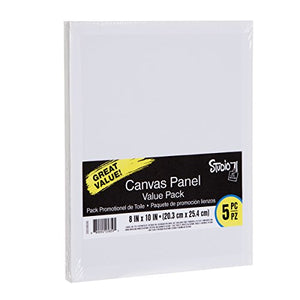 Amazon.com: Darice 8 by 10 inch 5 Piece Canvas Panels Value Pack, Pack of 5,: Arts, Crafts & Sewing