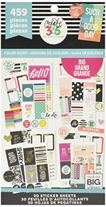 Amazon.com: me & my BIG ideas PPSV-13 Create 365 The Happy Planner Sticker Value Pack Planner - BIG Color Story - 459 Stickers