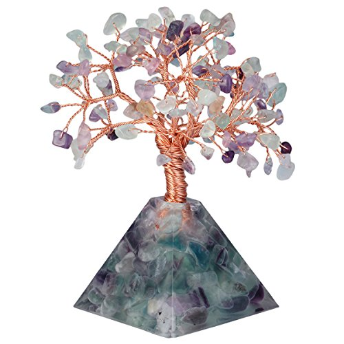 Mookaite decor Amethyst Crystal Tree, Quartz Cluster Rainbow Titanium Crystals Base Bonsai Money Tree for Wealth and Luck: Gateway