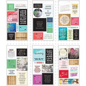 Amazon.com: Me & My Big Ideas Pocket Pages Stickers 6 Sheets/Pkg-Love Yourself