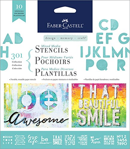 Amazon.com: Faber-Castell Mixed Media Paper Stencils, 303 Collection, 10 Reusable Inspiration Stencils