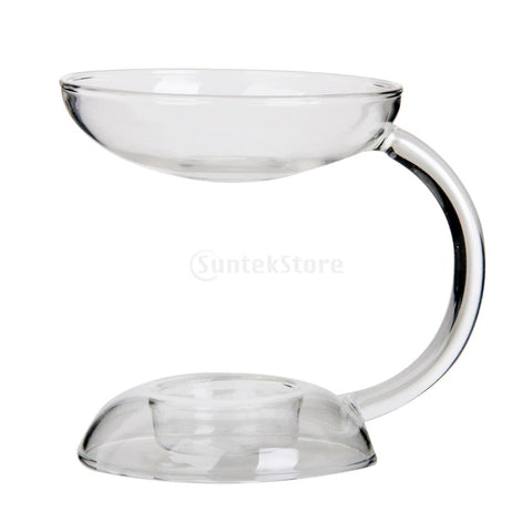 Glass Candlestick Candle Holder Aroma Oil Burner Warmer