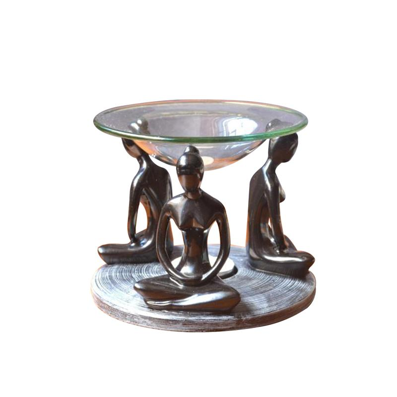 Woman's Prayer Oil Warmer Burner  (Black)
