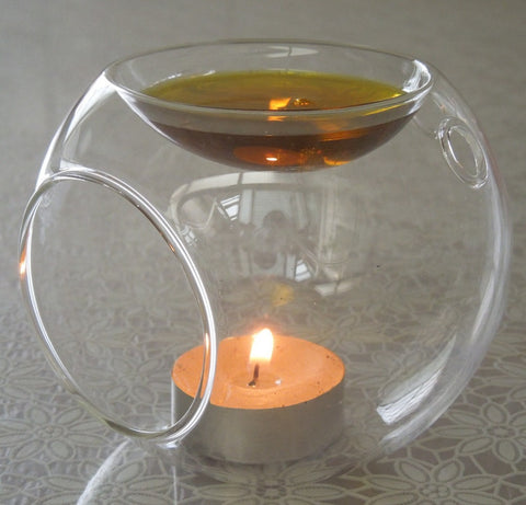 Glass Ball Candle/Oil Warmer