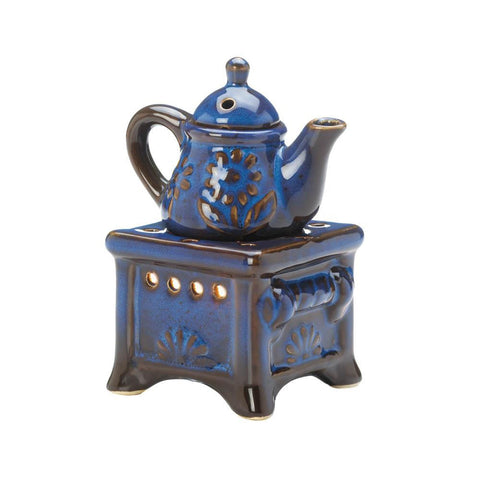 Fragrance Foundry Porcelain Blue Teapot Stove Oil Warmer