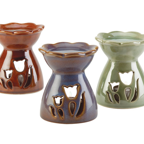 Tulip Oil Warmers, Set of 3