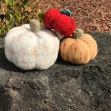 Felted Zombie Pumpkins