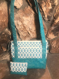 Twisty Turquoise Purse / Knitting Bag