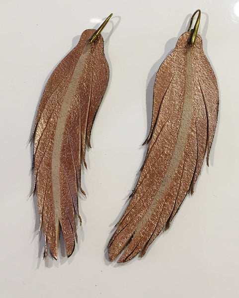 Pink Ice feather earring