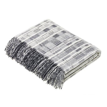 MULTISTRIPE GREY THROW