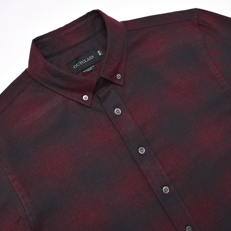 CRIMSON SHADOW PLAID FLANNEL