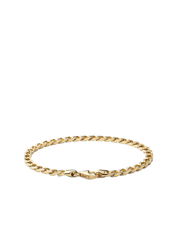 4MM CUBAN GOLD BRACELET