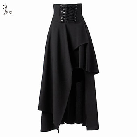Gothic Maxi Lace Up Skirt