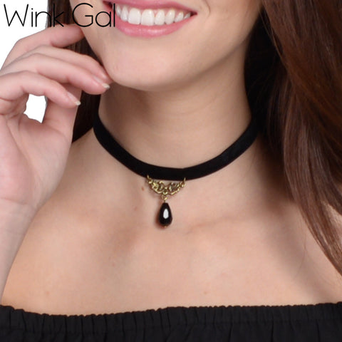 Vampire Wink Gal Punk Necklace
