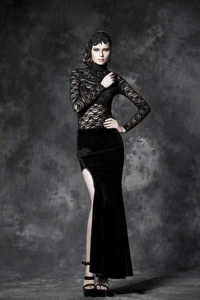 Gorgeous Gothic  Chi-pao Long Skirt