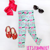 Let's Flamingle! (Kid's leggings)