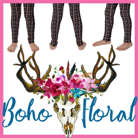 Boho Floral (Kid's leggings)