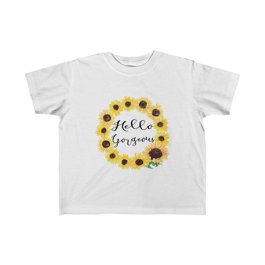 Hello Gorgeous Sunflower Style (Toddler Fine Jersey Tee)