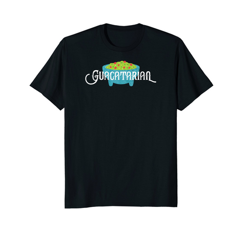 Guacatarian. (Unisex, Lady, & Kiddo Tee) ($24.99 on Amazon)