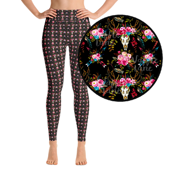 Boho Floral (Yoga Leggings)