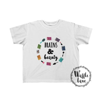 Brains & Beauty (Toddler Fine Jersey Tee)