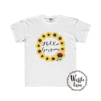 Hello Gorgeous Sunflower Style (Youth Regular Fit Tee)